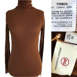 AG Adriano Goldschmied Chels Ribbed Turtleneck XS